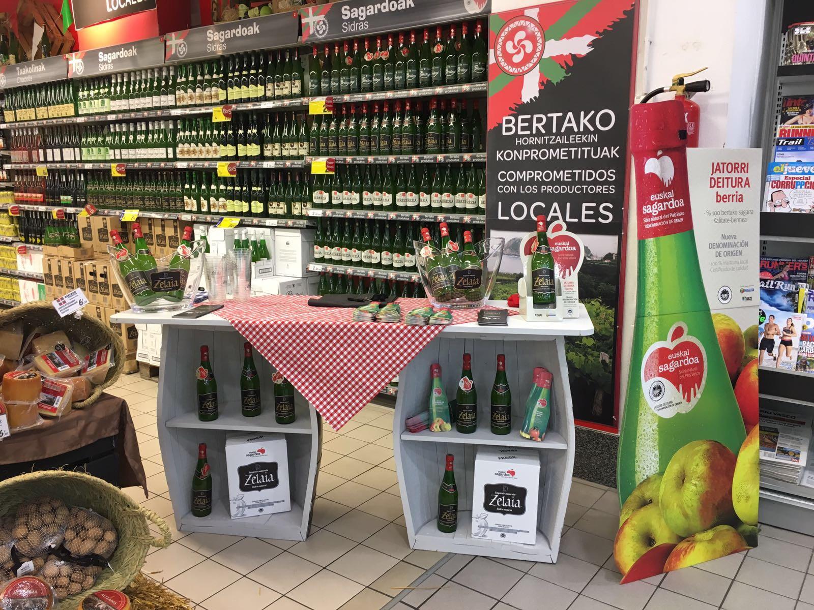"Degustaciones de sidra con D.O. ""Euskal Sagardoa"" en las grandes superficies"